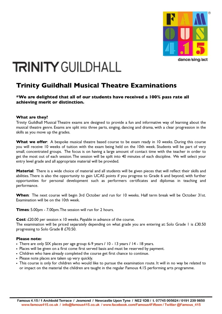 Trinity Guildhall Examination OCT'13