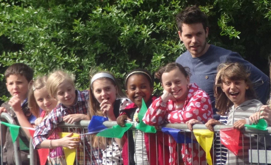 """Famous 4.15 Drama teacher Tony with class, on the set of BBC's """"The Dumping Ground"""""""