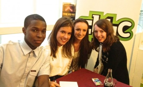 Famous 4.15 crew meeting the cast of CBBC's WolfBlood, acting, drama, BBC