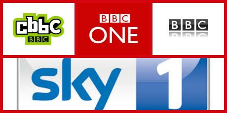 bbc, sky and cbbc logo's