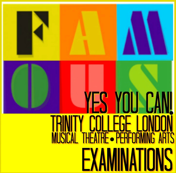 Famous415,Trinity College London, Examinations, sing, dance, act