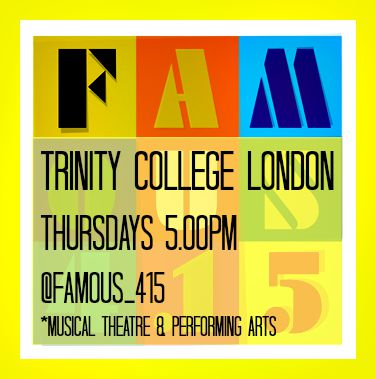 Famous4.15, Trinity College London, examinations, sing, dance, act, musical theatre, performing arts