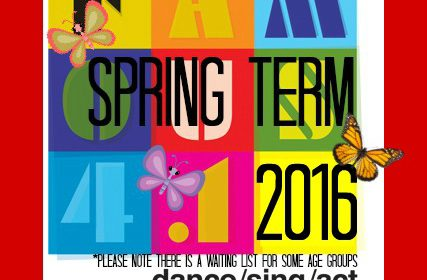 F415, Spring, Term, 2016, dance, sing, act, perform, exams, workshops, events