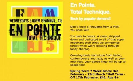 Famous4.15 Enpointe! Technique Class